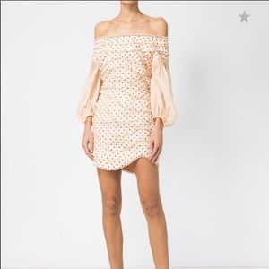 NWT Zimmerman Peach Dot Dress